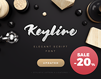 20% Off. Keyline Script Font