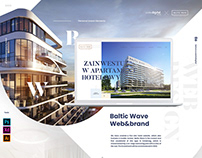Baltic Wave Hotel/ Web&Brand design