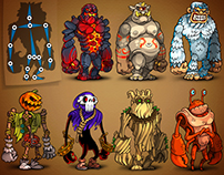 Monsters аnimation! Spine 2D