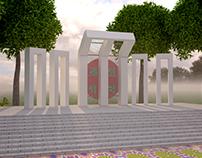 3D Bangladesh 'Shahid Minar'