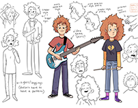 The Dare Nairts - Zack and Bailey character designs