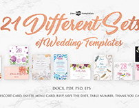 Different Sets of Wedding Templates