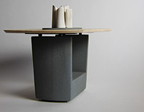 Vesta table. New domestic fireplace