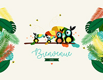 Calendrier baby Shower - thème tropical
