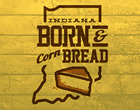 Indiana: Born and Corn Bread Shirt Design