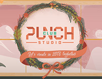 Punch Club Studio Festive Card