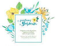 Identité graphique - Les Parfums de Yasmin