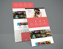 Web site PSD design and HTML5&CSS3