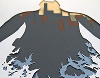 Batman Layered Papercut Art