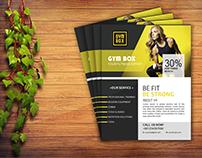 GYM Flyer Design free mockup