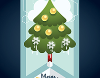 Illustration_Global warming christmas tree
