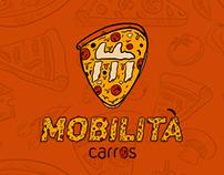 MobiPizza - Ilustração Dia da Pizza - Mobilità Carros