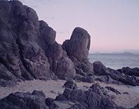ocean, sea of lava