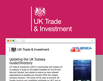 UK Trade & Investment - Online data capture tool