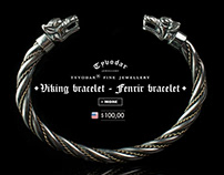 Viking bracelet, Fenrir bracelet - Tyvodar .com