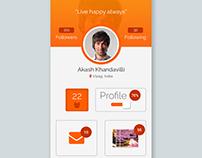 Social media profile page UI Design for App