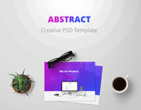 Abstract Creative PSD Template Design