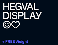 Hegval Display – Type Family + FREE WEIGHT