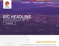 Mockup landing page LearnChile