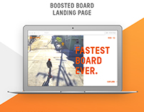 Boosted board landing page
