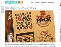 Miller Tear Off Six Pack. 2014 (Beer Coasters)