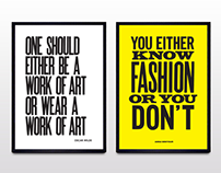 LDNfashion Quote Posters