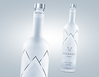 3D bottle of Danish vodka Nixon Bui