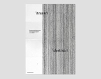 \trazar\ \destruir\ - communication campaign