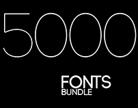 5000 Fonts Bundle