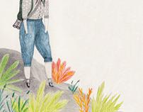 Exploradoras - P. Kahlo - mixed media