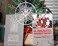 Metal Holiday Cards, Invitations, and Ornaments