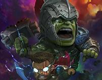 Fanrt Thor ragnarok