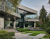 Silver Pine Residence in Moscow, Russia by SAOTA