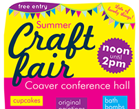 Craft fair posters