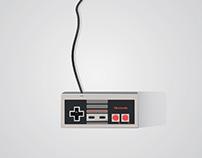 NES 83' Joystick - Poster Illustration