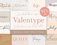 Valentype - Valentine's Font Bundle (91% OFF)