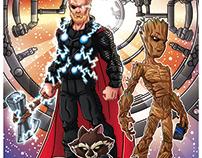 Thor, Rocket & Groot
