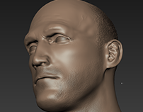 Jason Statham Head Sculpt Project