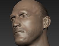 Jason Statham Head Sculpt Project