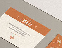 Ludmila Seamstress Identity and Webdesign