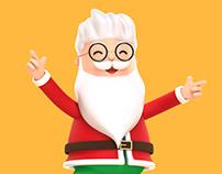Secret Santa 3D Character