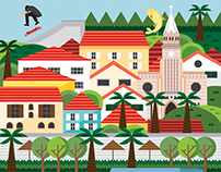 Piraju City Illustration