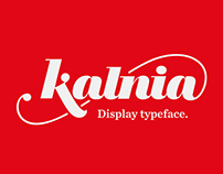 Kalnia display typeface