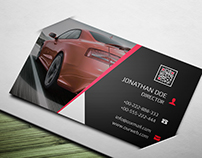 Rent A Car Business card Free for download