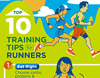 Cigna: Top 10 Training Tips Infographic