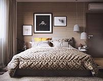 Modern Bedroom Design 3D Rendering by ArchiCGI