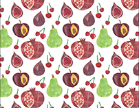 Cut Paper Fruits and Veggies Patterns