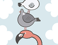 Toppling Birds
