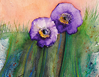 Watercolor flowers III