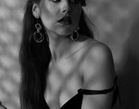black and white shadow portraits